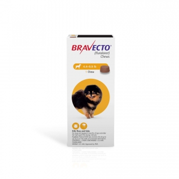 Bravecto Chews for Dogs 4.4-9.9 lbs., Single 12-Week Dose