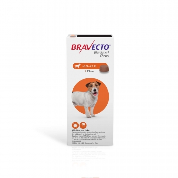Bravecto Chews for Dogs 9.9-22 lbs., Single 12-Week Dose