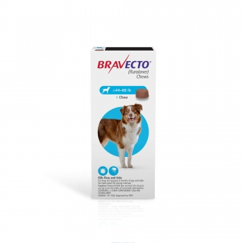 Bravecto Chews for Dogs 44-88 lbs., Single 12-Week Dose