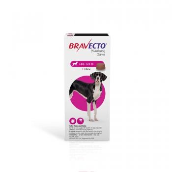 Bravecto Chews for Dogs 88-123 lbs., Single 12-Week Dose